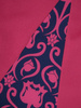 Amarantowa sukienka z ozdobnym przodem maskującym niedoskonałości 30860