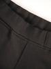 Bawełniane spodnie damskie w czarnym kolorze 31055