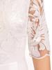 Biała suknia maxi, wieczorowa kreacja zdobiona cekinami 30588