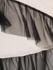 Biała tunika z ozdobną falbaną z tiulu 29454