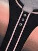 Cieniowana bluzka z ozdobnymi guzikami przy dekolcie 27910