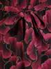 Codzienna sukienka w kwiaty z paskiem podkreślającym talię 30570