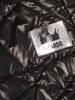 Czarna, pikowana kurtka z kapturem 29313