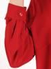 Czerwona bluzka koszulowa z ozdobnym wiązaniem 29830