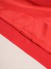 Czerwona sukienka z tkaniny, kreacja w luźnym fasonie 30560