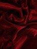 Długa sukienka z aksamitu, bordowa kreacja z koronkowym gorsetem 24387