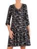 Dzianinowa sukienka, codzienna odzież  z napisami 27824
