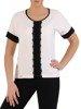 Elegancka biała bluzka 25116