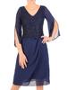 Elegancka sukienka na wesele, kreacja z szyfonu i koronki 30621