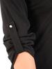 Elegancka sukienka z dodatkiem skóry ekologicznej, kreacja wyszczuplająca 30812