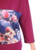 Fioletowy komplet dresowy w kwiatowy wzór 29688