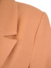 Flauszowy płaszcz damski z kołnierzem i kieszeniami 30758