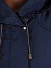 Granatowa kurtka z ozdobnymi zamkami 24633