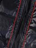 Granatowa, pikowana kamizelka damska z kapturem 30640