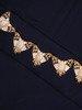 Granatowa sukienka maxi z błyszczącą aplikacją w talii 22768