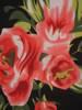 Kopertowa sukienka w kwiaty z ozdobnymi rozcięciami na rękawach  29002