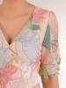 Kopertowa sukienka z ozdobnymi rozcięciami na rękawach 28993