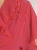 Koralowa bluzka z żabotem 26688