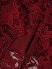 Koronkowa sukienka wizytowa, kreacja w kolorze bordowym 22560