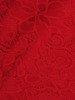Koronkowa sukienka wizytowa, kreacja w kolorze czerwonym 22561
