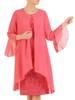 Kostium damski, elegancka sukienka z szyfonową narzutką 29871