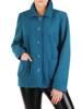 Krótki, turkusowy płaszcz damski 29012