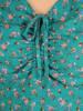 Luźna sukienka na lato, kreacja z ozdobnym wiązaniem 30195
