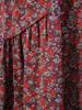 Luźna sukienka z bawełnianej tkaniny w modny, kwiatowy wzór 30493