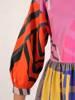Luźna sukienka z bawełny, kolorowa kreacja na lato 30090