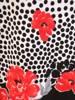 Luźna sukienka z dzianiny, kreacja w kwiaty i groszki 29946