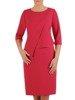Malinowa sukienka, elegancka kreacja z subtelnym zdobieniem 26004