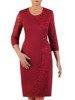 Modna sukienka z wyszczuplającą, koronkową wstawką 23887