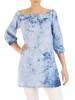 Oryginalna bluzka, tunika z gumką przy dekolcie 29511