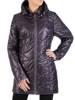 Pikowana kurtka damska na wiosnę w fioletowym kolorze 30785