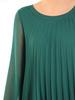 Plisowana sukienka z szyfonu, kreacja w luźnym fasonie 31201