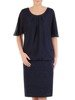Połyskująca szyfonowa sukienka, kreacja w modnym fasonie 24530