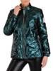Połyskująca zielona kurtka 28164