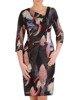 Prosta sukienka z ciekawym wzorem, wiosenna kreacja z guzikami 25355