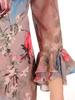 Prosta sukienka z finezyjnymi rękawami, kreacja na każdą okazję 31187