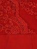 Prosta sukienka z kopertowym dekoltem, kreacja z koronkowym topem 22538