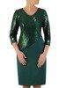 Prosta sukienka z oryginalnym połyskującym topem, elegancka kreacja wyszczuplająca brzuch24265