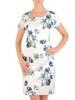 Prosta sukienka z tkaniny, kreacja w kwiaty 30199