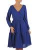 Rozkloszowana chabrowa sukienka, kreacja z kopertowym dekoltem 27833