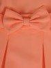 Rozkloszowana sukienka z ozdobną kokardą 26718