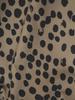 Rozkloszowana sukienka z ozdobnymi falbanami w zwierzęcym wzorze 31094
