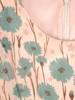 Rozkloszowana, zwiewna sukienka w kwiaty, wyszczuplająca kreacja 29357