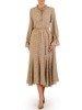 Sukienka damska, długa kreacja w delikatnym wzorze 25018