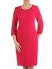 Sukienka damska, różowa kreacja w prostym fasonie 25765