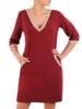 Sukienka damska wykończona połyskującymi taśmami 29470
