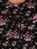 Sukienka koktajlowa, luźna kreacja w kwiaty 26804